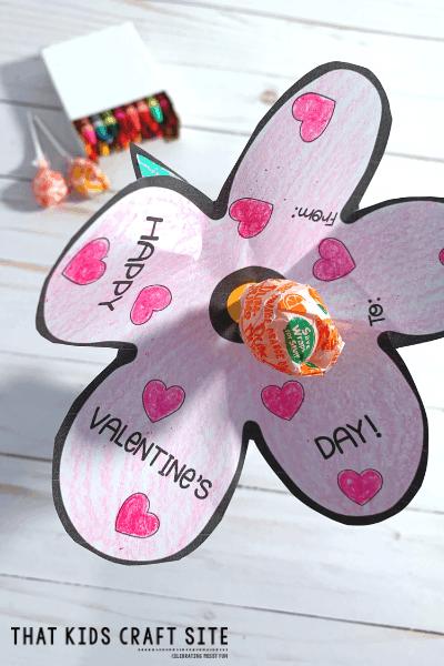 Lollipop Flower Valentines