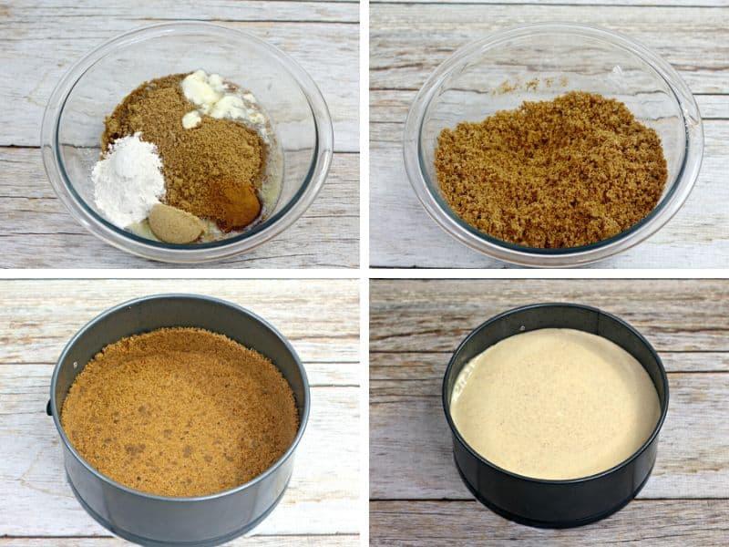 gingerbread cheesecake crust ingredient photos