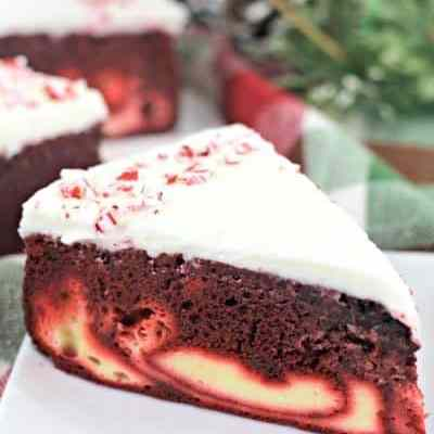 Red Velvet Candy Cane Cheesecake