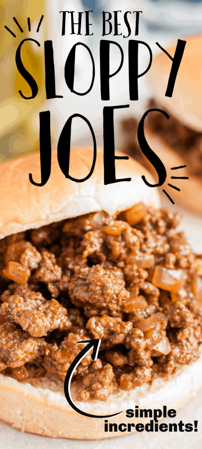 Homemade Sloppy Joes make the perfect meal that reminds you of dinner when you were a kid. Within just a few minutes, you'll have perfectly flavored beef that's sweet and tangy. Add a hamburger bun to eat as a sandwich, or serve it open faced. This sloppy joe recipe is perfect for a gathering or any weeknight dinner.