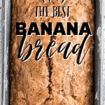 banana bread in baking pan