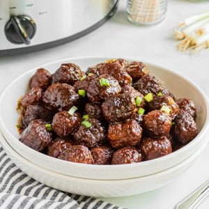 bowl with meatballs