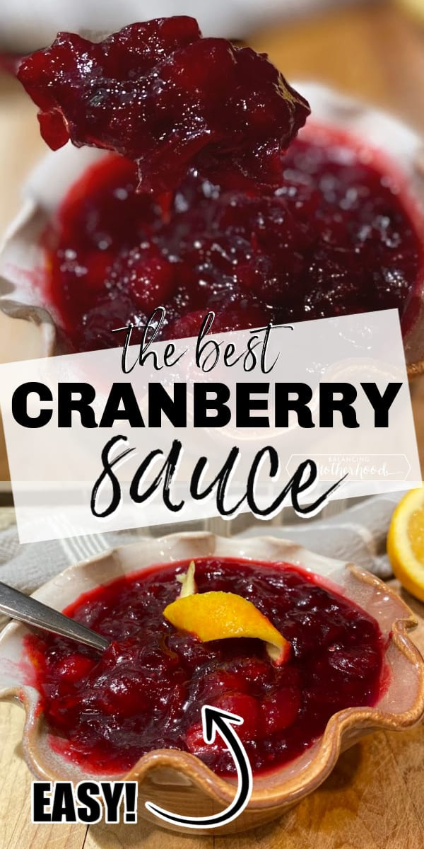 Cranberry sauce is so easy to make that you don't need to buy it in the can - ever! Truly, you can make this amazing cranberry sauce with orange zest in 20 minutes with just a few ingredients!