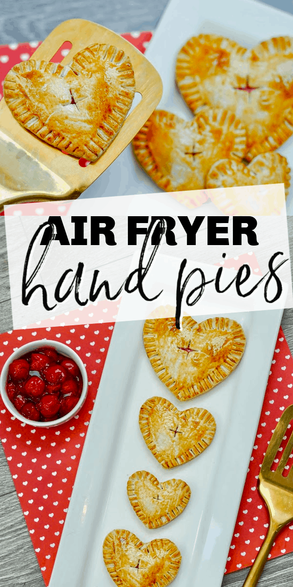 Air fryer hand pies are a sweet treat that's so easy to make. The air fryer crisps the outside of the pie crusts and perfectly warms the juicy cherry pie filling inside.