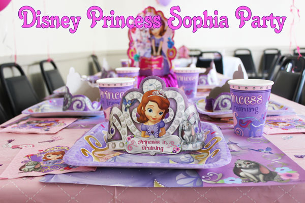 Disney Princess Sophia Birthday Party, Disneyside