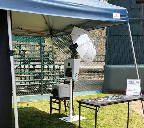 Outdoor Set Up 2 clicks photo booth