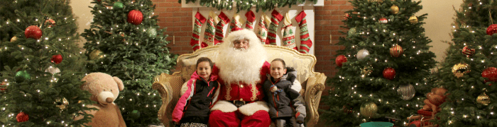 Christmas Train to Santa at Irvine Park Railroad