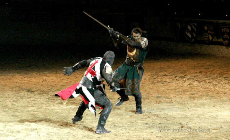 Medieval Times Knights in action MTSpringBreak