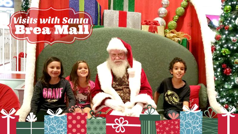 Visits with Santa at Brea Mall