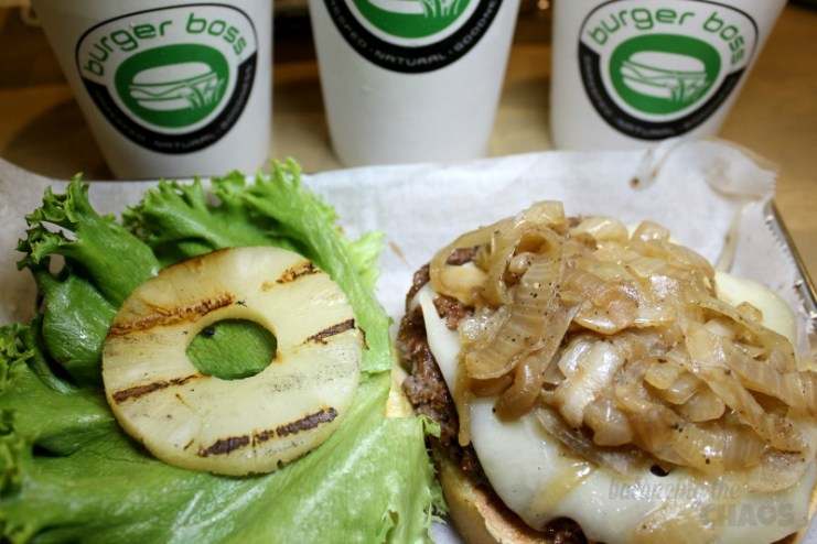 Burger Boss with Pineapple and grilled onions