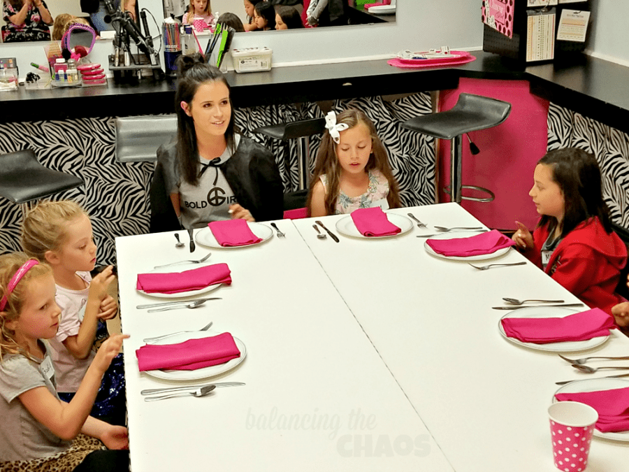 Bold Girlz Table Manners Etiquette Workshop
