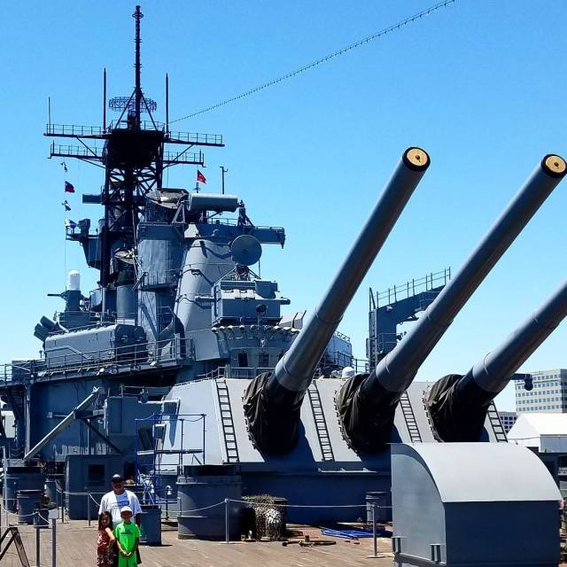 Hosted Such an awesome history lesson Toured the battleshipiowa todayhellip
