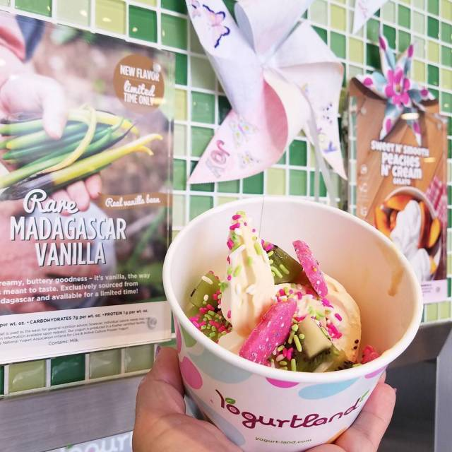 We are at yogurtlandinc sampling the RARE Madagascar Vanilla whichhellip
