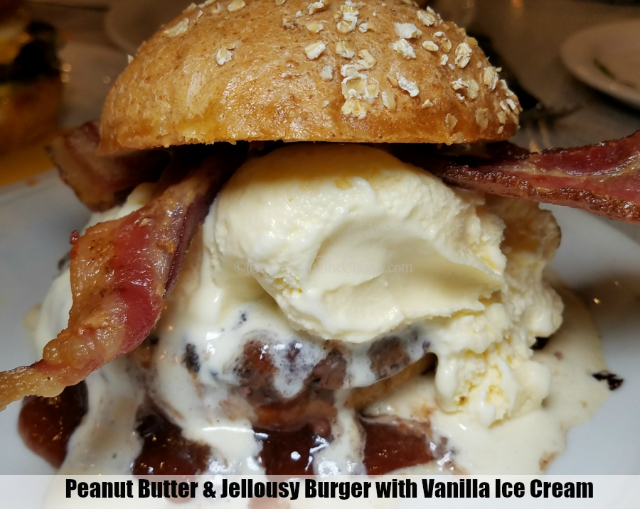Peanut Butter Jellousy Burger with Ice Cream at Slater's 50/50