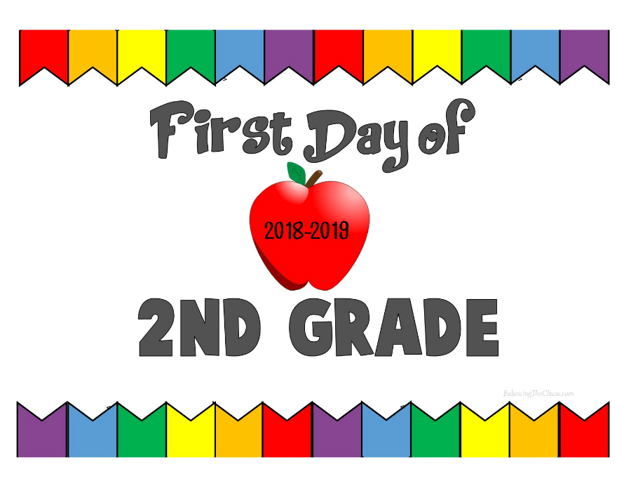 First Day of 2nd Grade 2018 2019