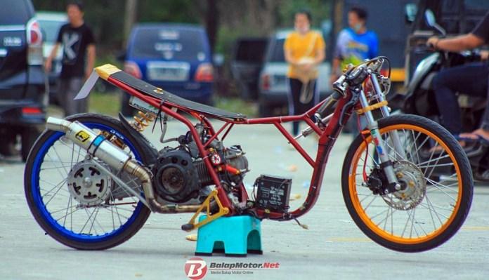 Dragbike Pangkal Pinang 2018: Matic 200 Vidal Speed Shop Pecah Rekor 7.249 Detik, Joki Pemula!