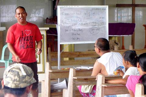 Livelihood orientation with KPMFI's Richard Rejas.