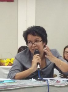 BMFI and BBFI Chairperson Ibing Okinlay-Paraguya presiding the meeting.