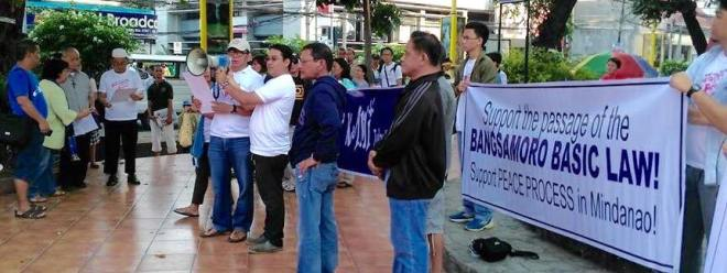Kaloy Manlpug at the Citizens' Action for BBL Rally (Photo by Paul Paraguya)
