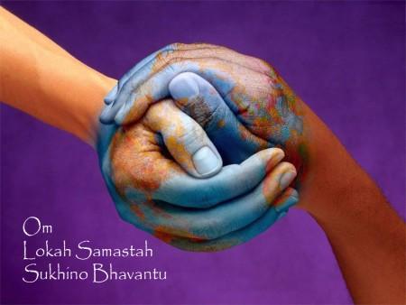 Image result for om lokah samastah sukhino bhavantu