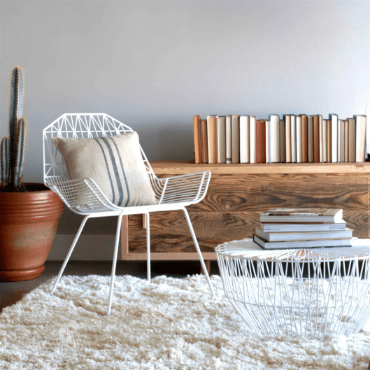 Wire furniture chair.