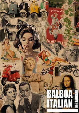 Balboa Italian Restaurant Palm Beach Gold Coast Menu Cover January 2017