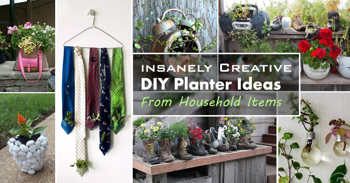 diy planter ideas from household items