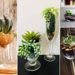 How To Grow Succulents In Wine Glasses 10 Diy Wine Glass Terrariums