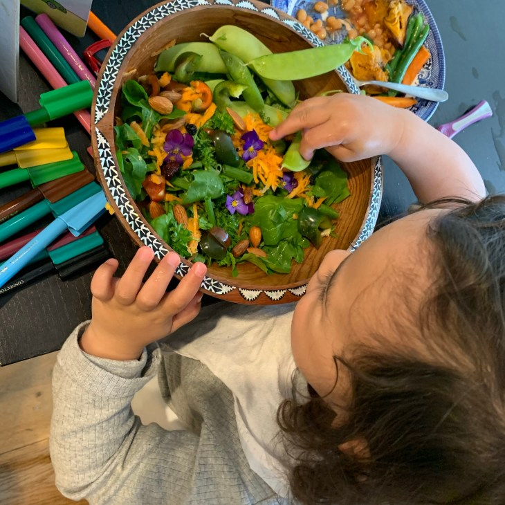 Garden harvest toddler
