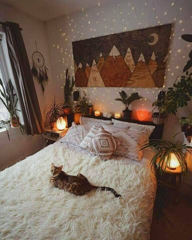 fall bed aesthetic