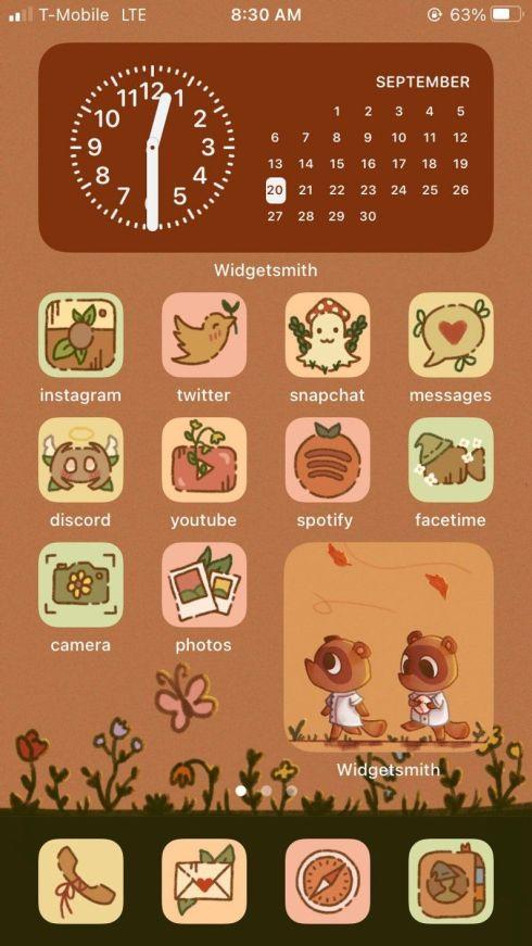 fall theme iPhone