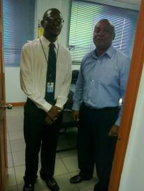 Mr. Bedasse and our team member at the Montego CCU
