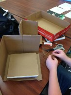 Shane constructing a wrestling ring