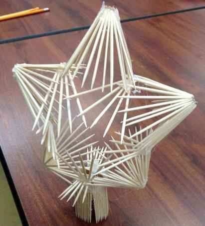 toothpick 3D snoflake