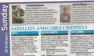 The Daily Mail 'Weekend' magazine TV Listings