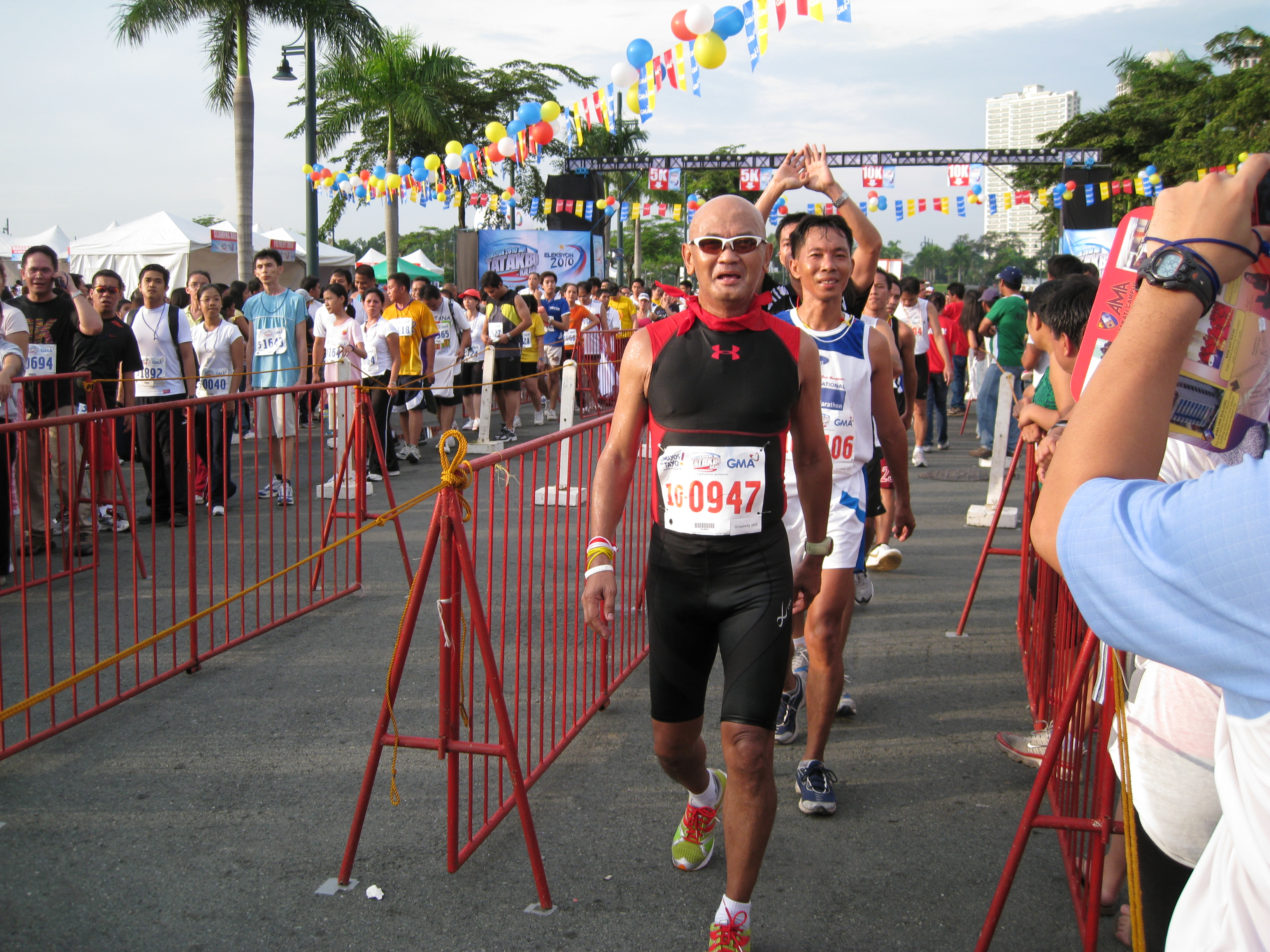 After Crossing The Finish Line
