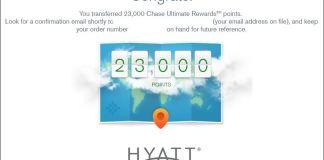 Transfer Chase UR to Hyatt - step 7