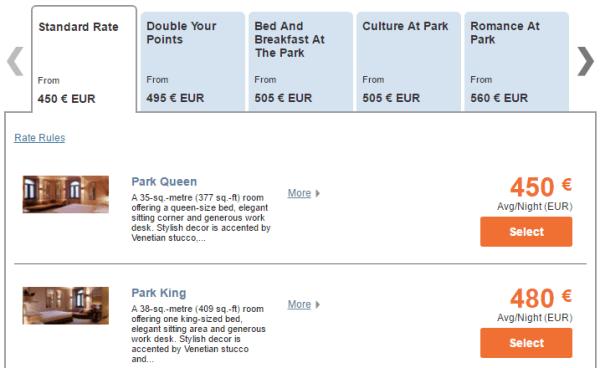 Park Hyatt Milan Park King room rates