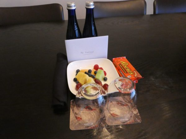 Kimpton Donovan Hotel welcome amenity