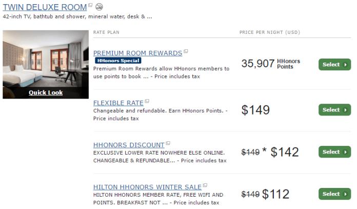 Hilton Stockholm Slussen twin deluxe room price