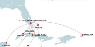 New Southwest Caribbean Routes January 2017