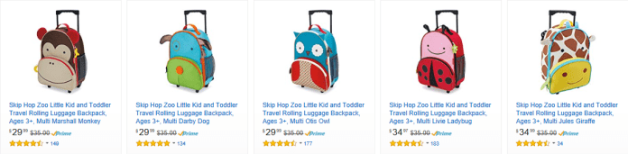 SkipHop Amazon best travel suitcase for kids