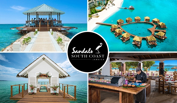 Sandals overwater bungalow Sandals South Coast Jamaica overwater bungalows