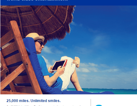 United DirecTV 25000 miles promotion