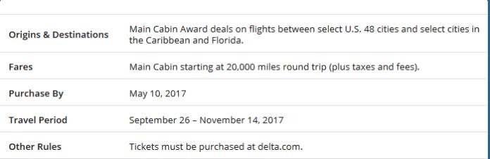 Delta award tickets to the Caribbean