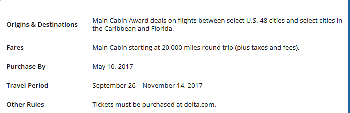 Delta award tickets to the Caribbean