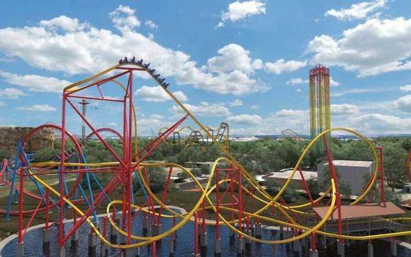 Six Flags Wonder Woman roller coaster