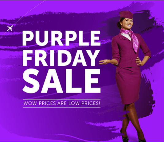 WOW Air Purple Friday Sale 2017