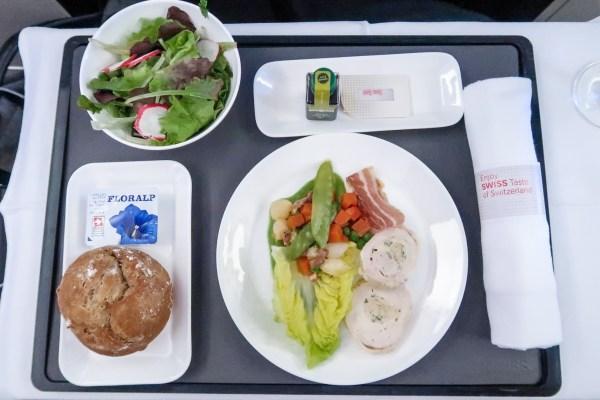 Swiss Air Business Class 777-300ER Appetizer