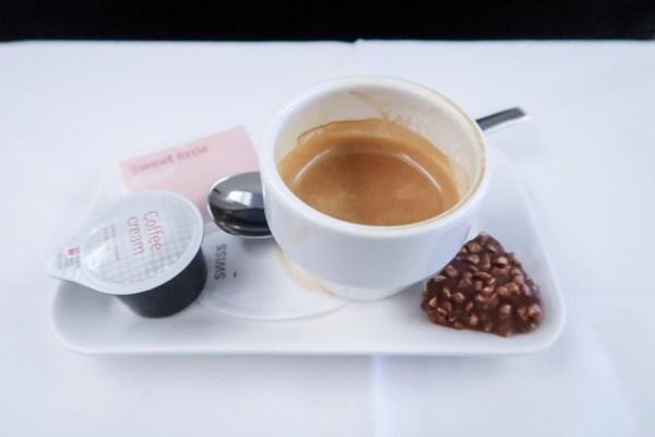 Swiss Air Business Class 777-300ER Nespresso